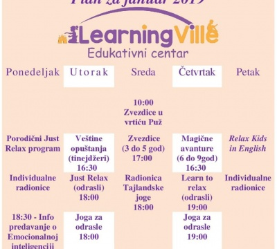 Learning Ville Raspored
